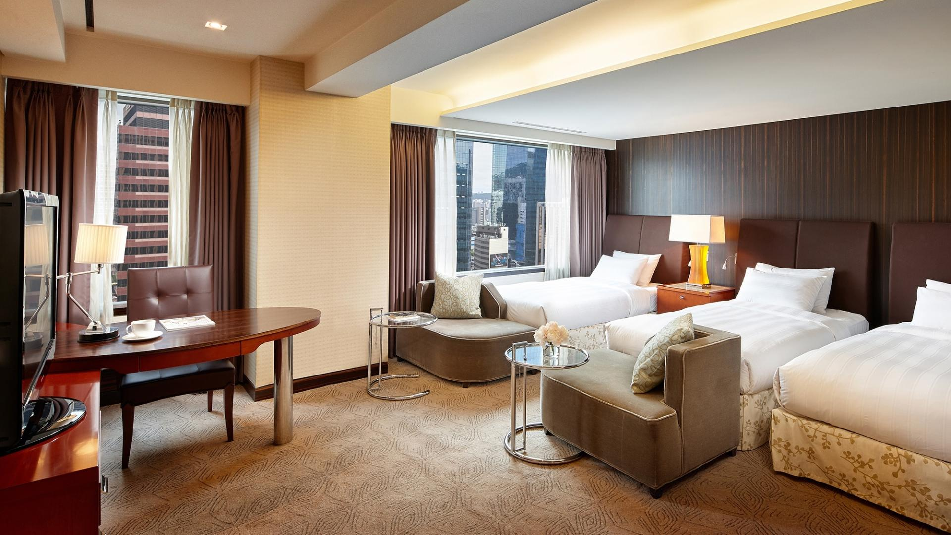 lotte hotel seoul, triple, room
